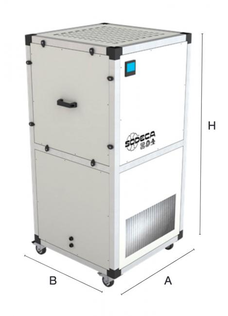 Purificateur d'air UPM/EC-400-F7 + HEPA H14 - CG