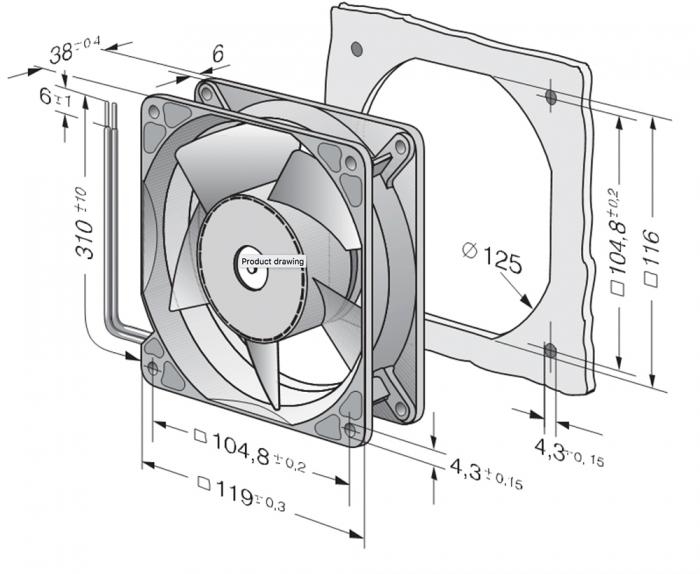 Ventilateur compact 4114NH3